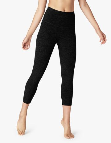 Spacedye Walk and Talk High Waisted Capri Legging ~ Darkest Night