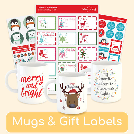 Affordable Personalised Mugs: Design Your Christmas Gifts Online at Labels4School