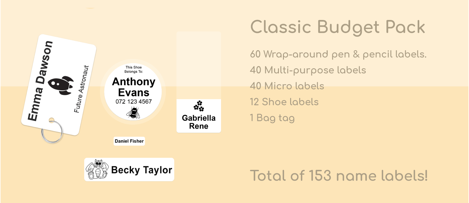 the budget pack - labels4school value classic pack