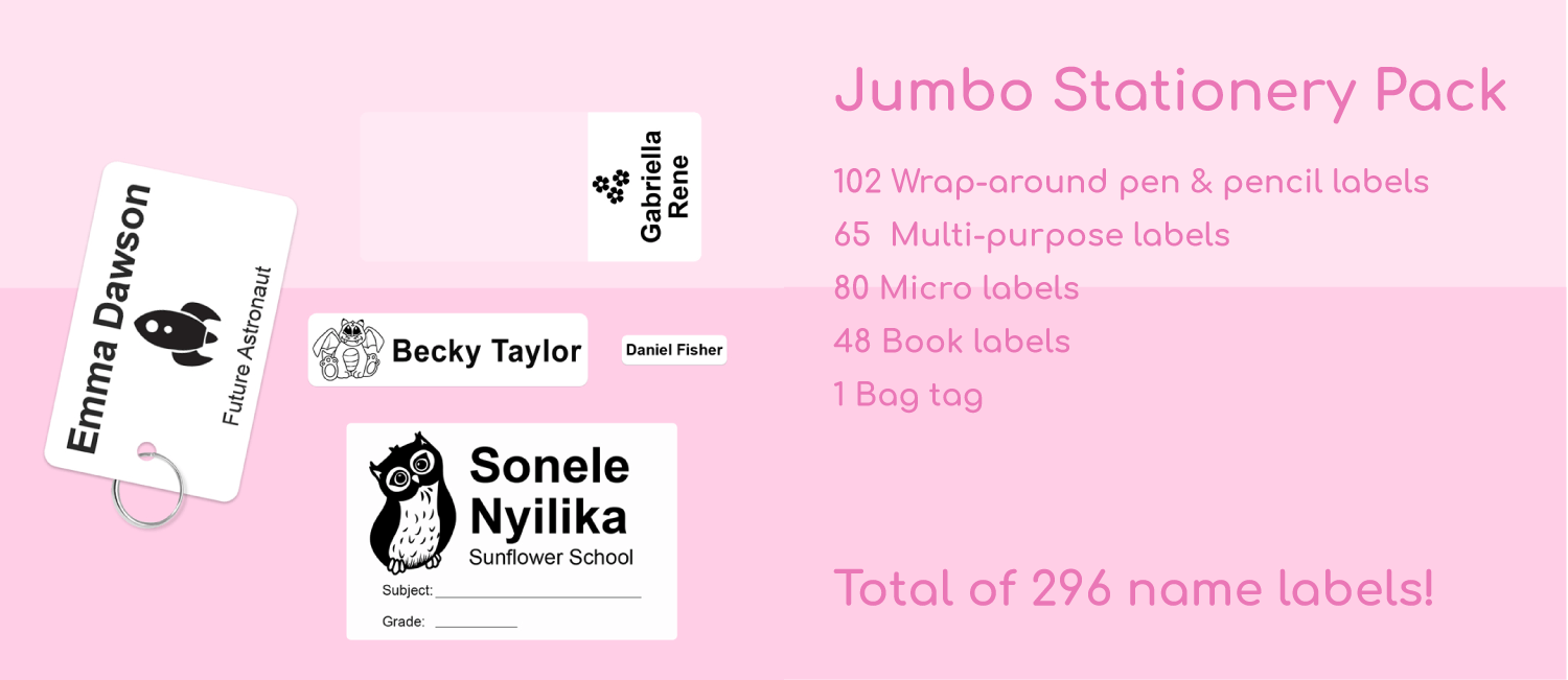 the jumbo stationery pack - labels4school value classic pack
