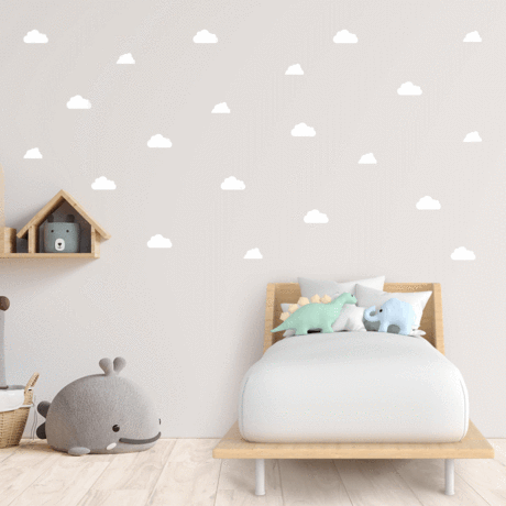 Clouds White Decal