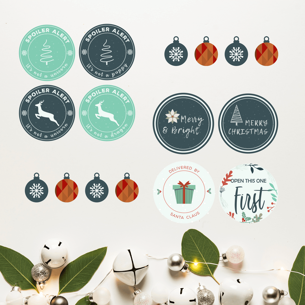 Modern Christmas Gift Labels