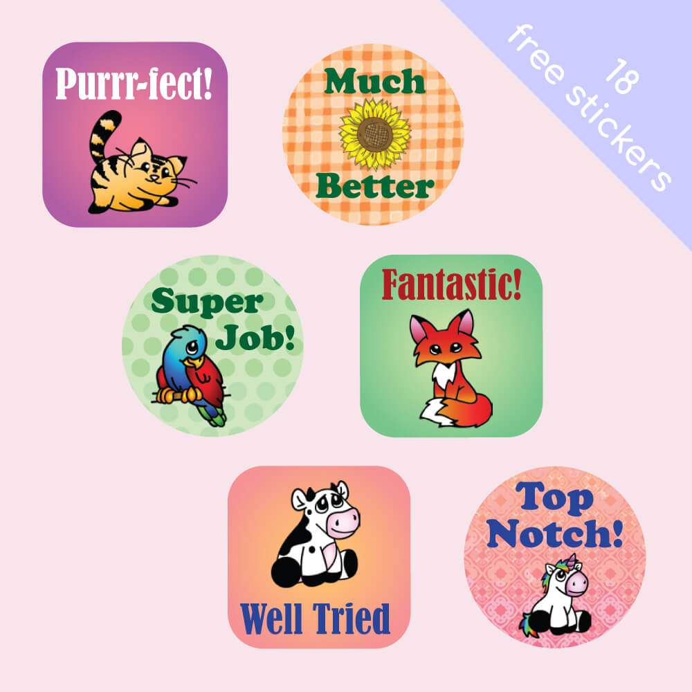 Mix Pack One Merit Labels