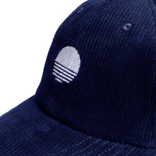 Load image into Gallery viewer, Corduroy Sunrise Logo Cap - Navy Blue