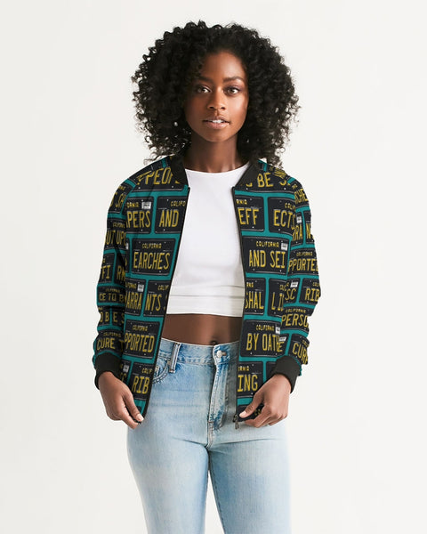 4th Amendment ALPR Feminine Bomber Jacket