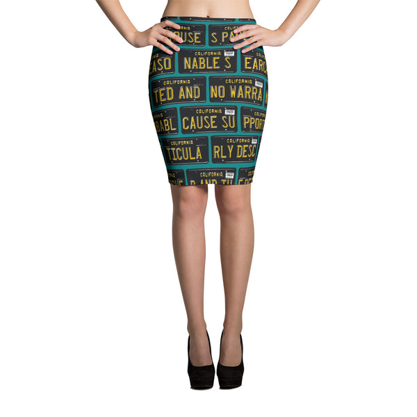 4th Amendment Pencil Skirt