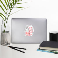 Detection Protest Vinyl Stickers - White