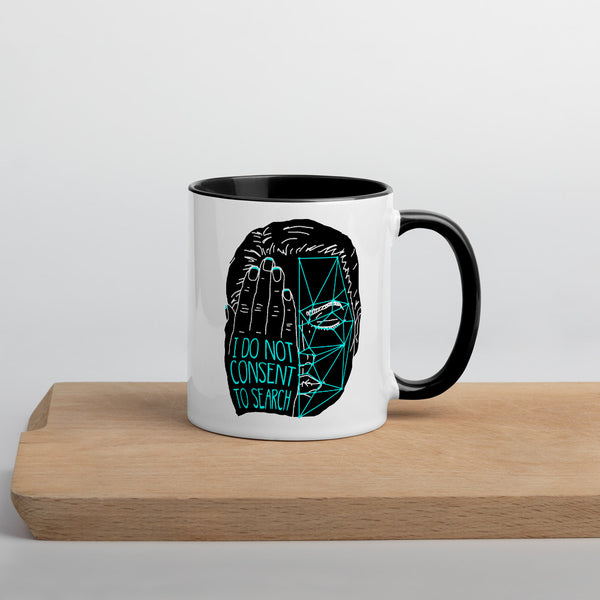 Detection Protest Mug - Black & White