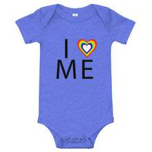 "Load image into Gallery viewer, ""I heart me"" Baby Onesie"