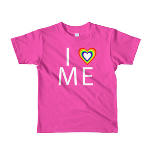"""I heart me"" Short sleeve kids t-shirt"