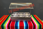 (#40) Condiment Bar W/Sneeze Guard (6 Trays)