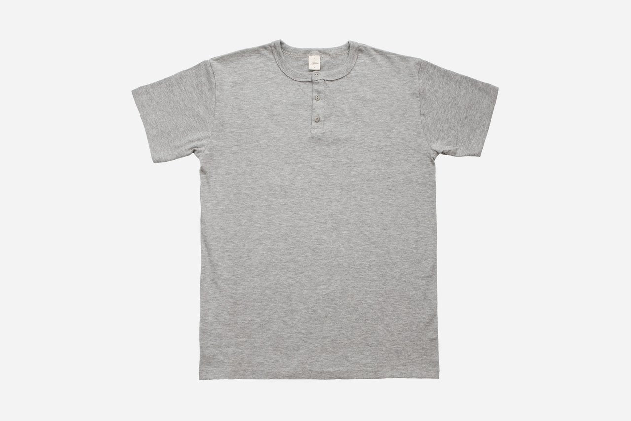 3Sixteen Heavyweight Henley Heather Grey