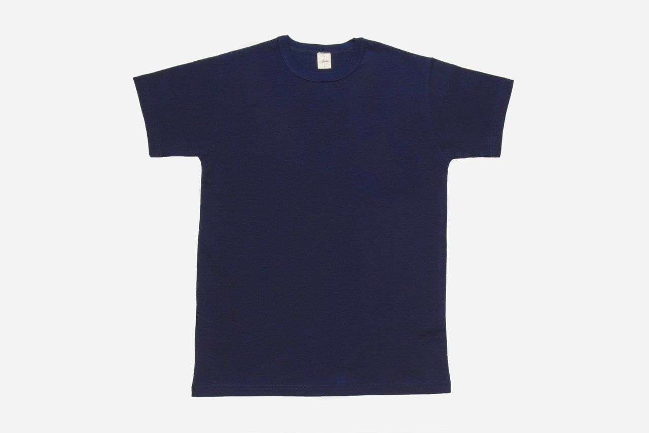 3Sixteen Heavyweight Plain T Shirt Indigo