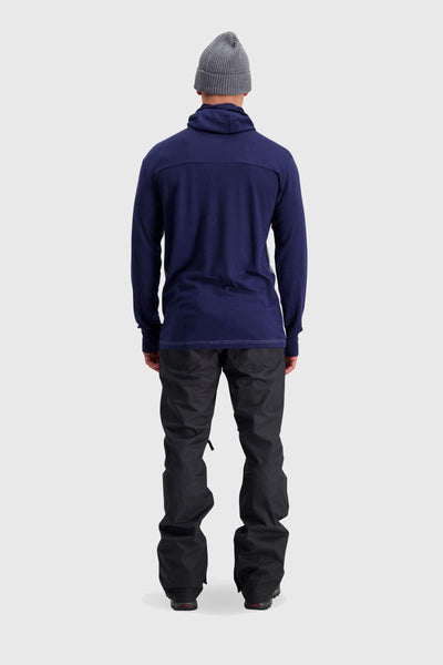 Yotei Powder Hood LS - Navy / Grey Marl