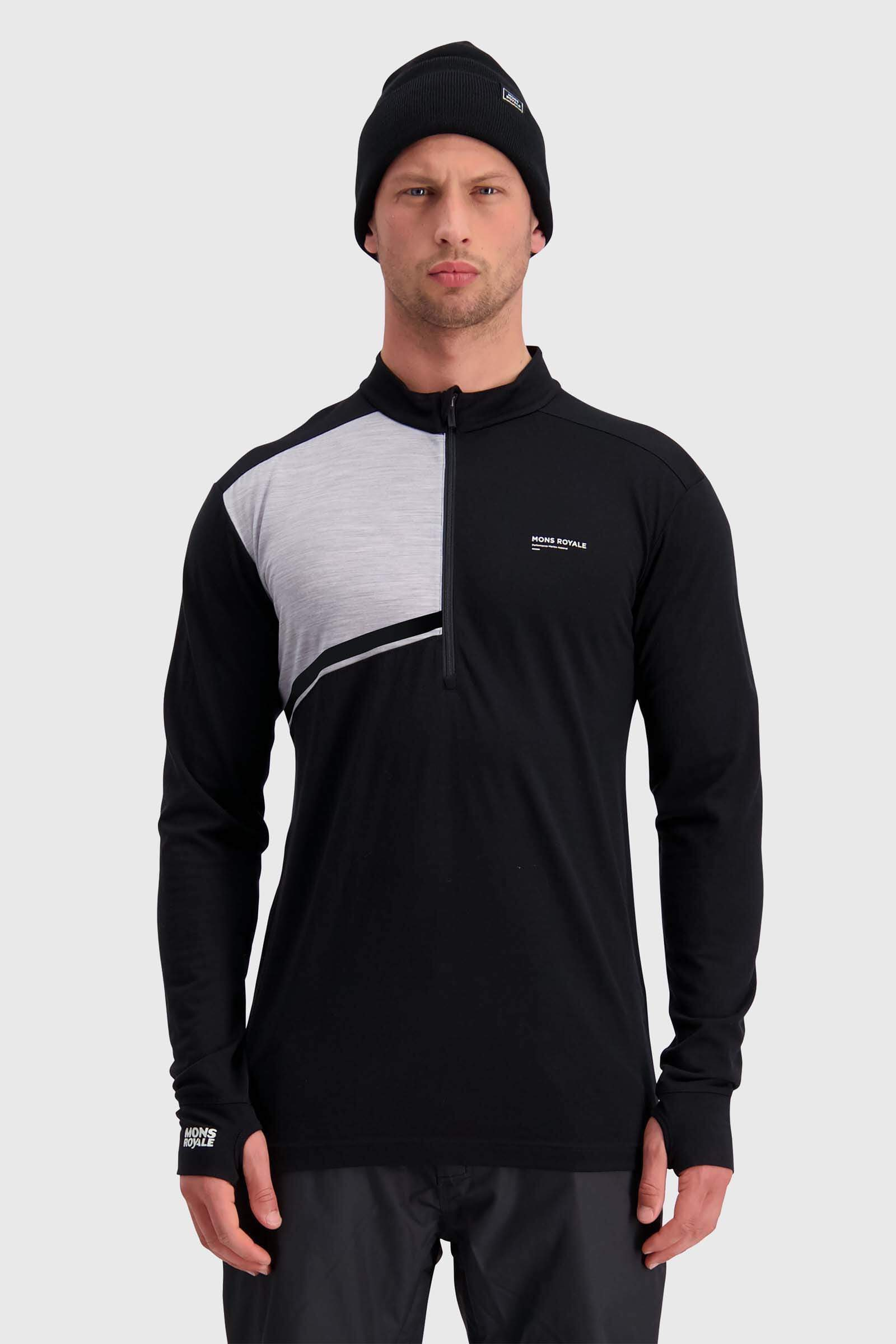 Alta Tech Half Zip - Black / Grey Marl