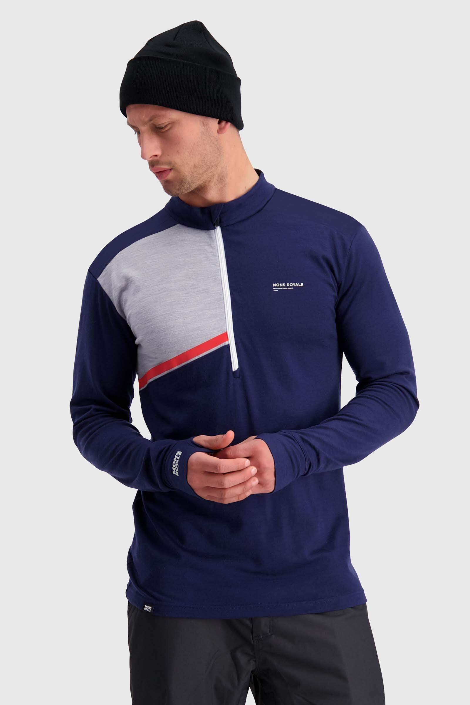 Alta Tech Half Zip - Navy / Grey Marl