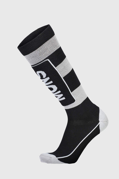 Mons Tech Cushion Sock - Black / Grey