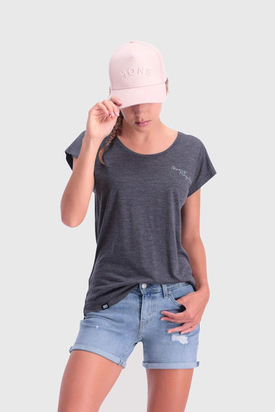 Estelle Cap Tee - Smoke