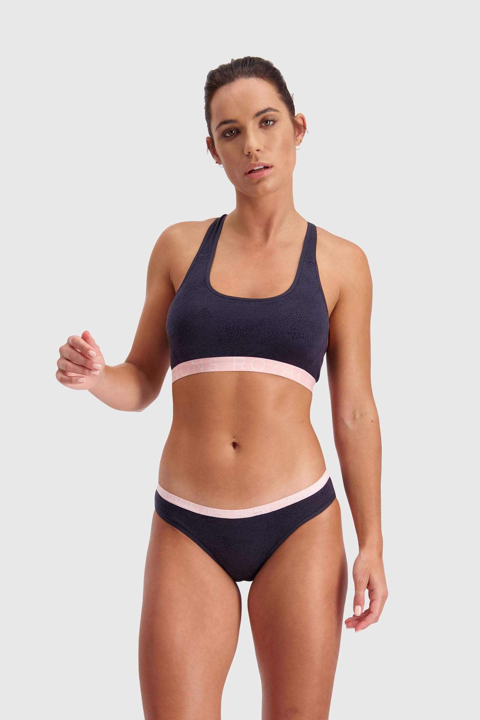 Sierra Sports Bra - 9 Iron Micro