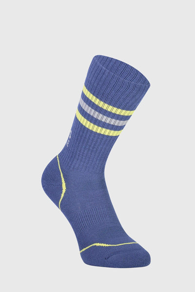 Signature Crew Sock - Ink / Lemon