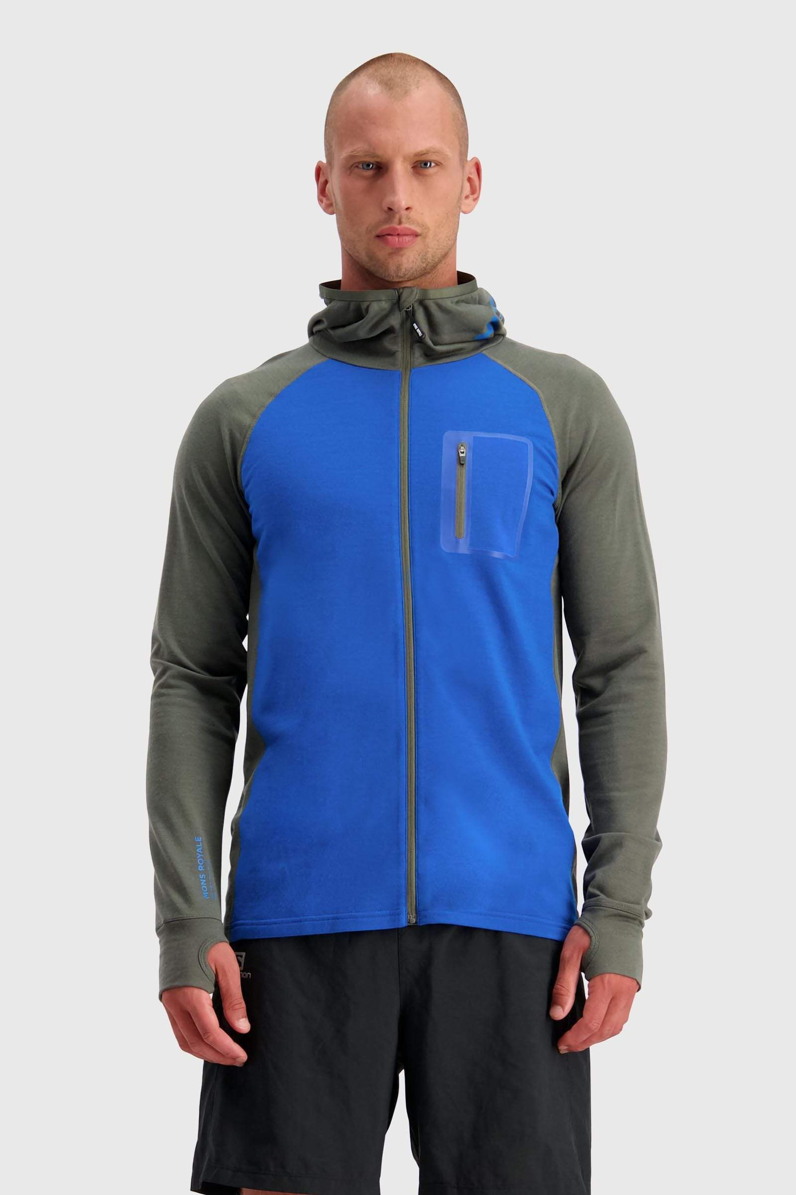 Traverse Midi Full Zip Hood - Olive / Rebel Blue