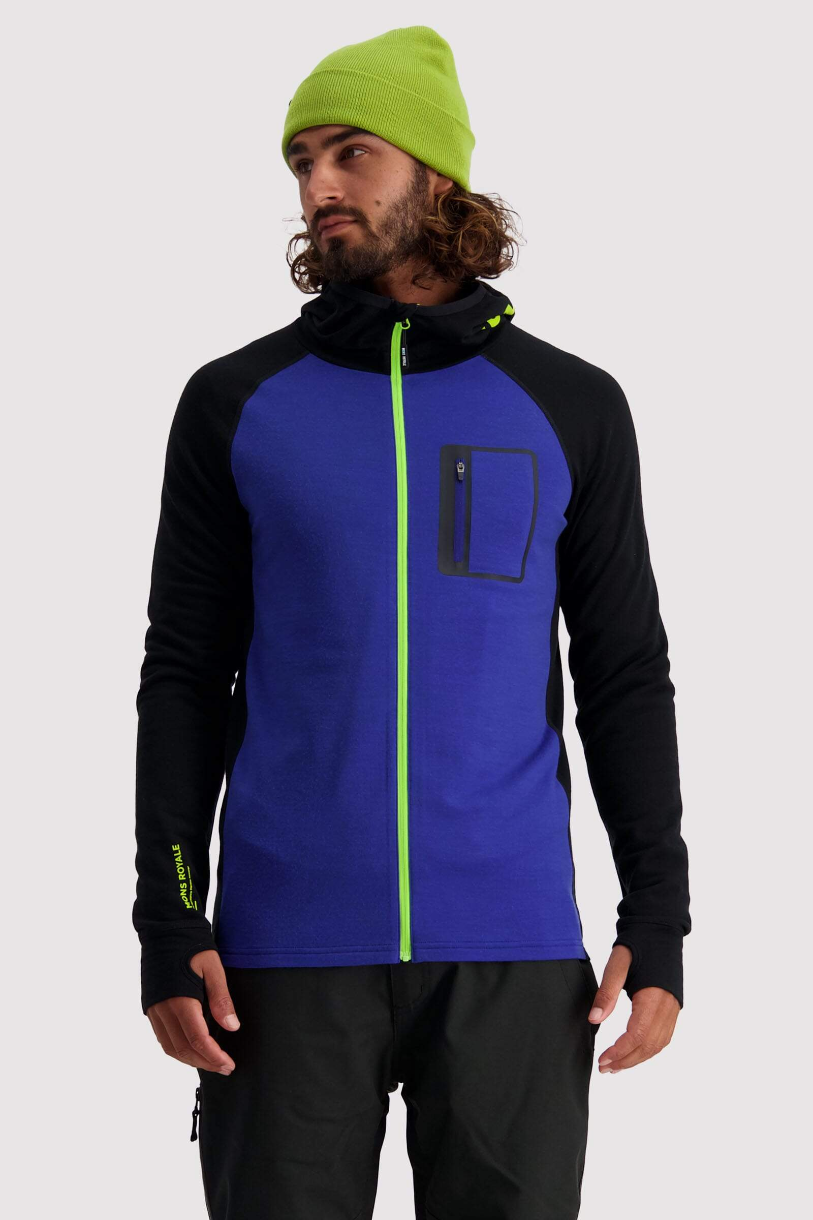 Traverse Midi Full Zip Hood - Ultra Blue / Black