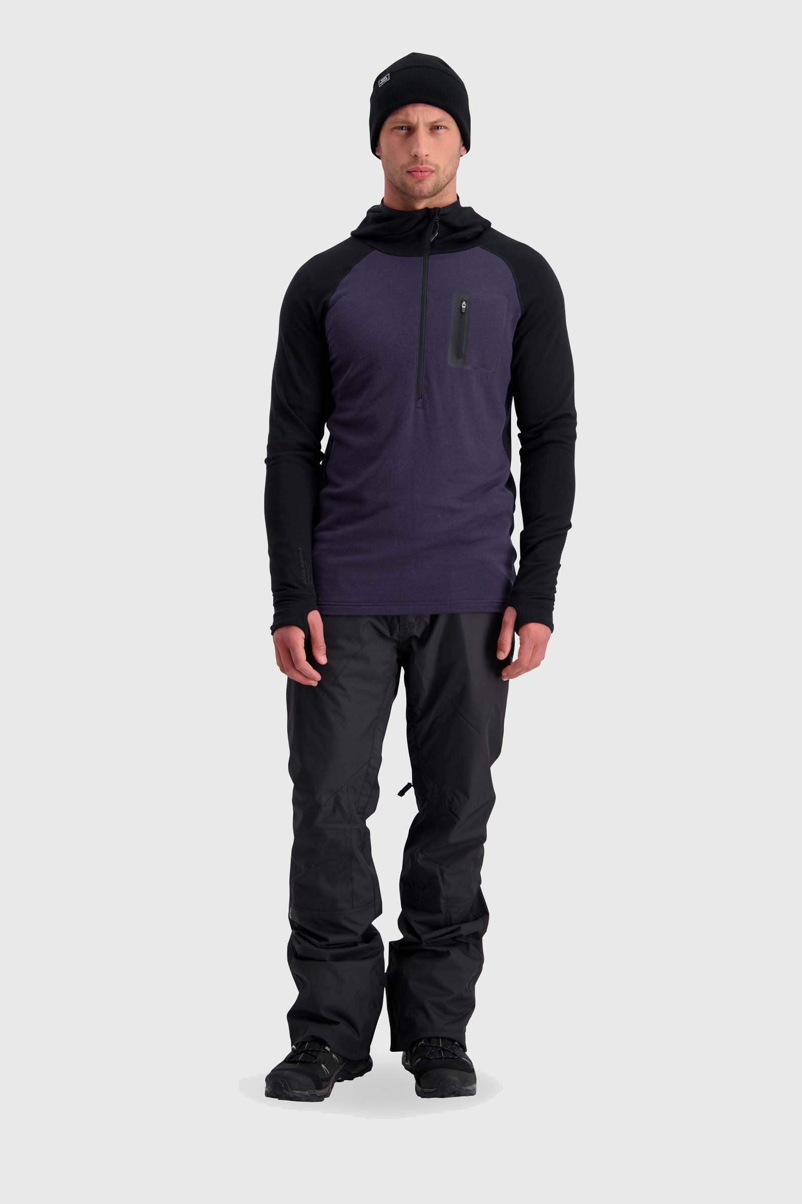 Traverse Midi Half Zip Hood - Black / 9 Iron