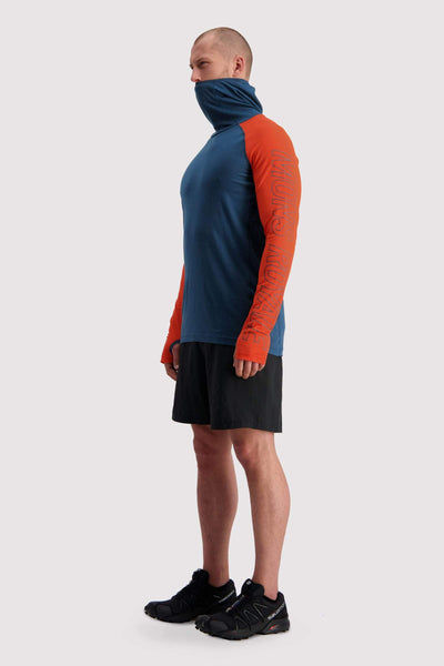 Temple Tech Flex Hood - Atlantic / Orange Smash