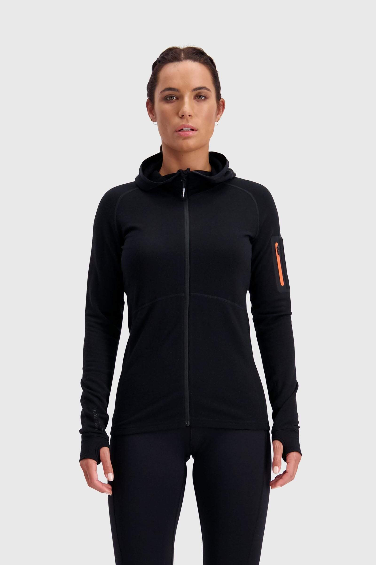 Ascend Midi Full Zip Hood - Black