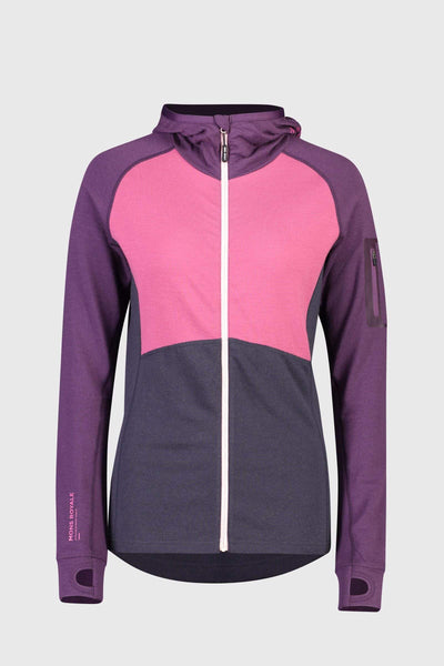 Ascend Midi Full Zip Hood - Eggplant / 9 Iron