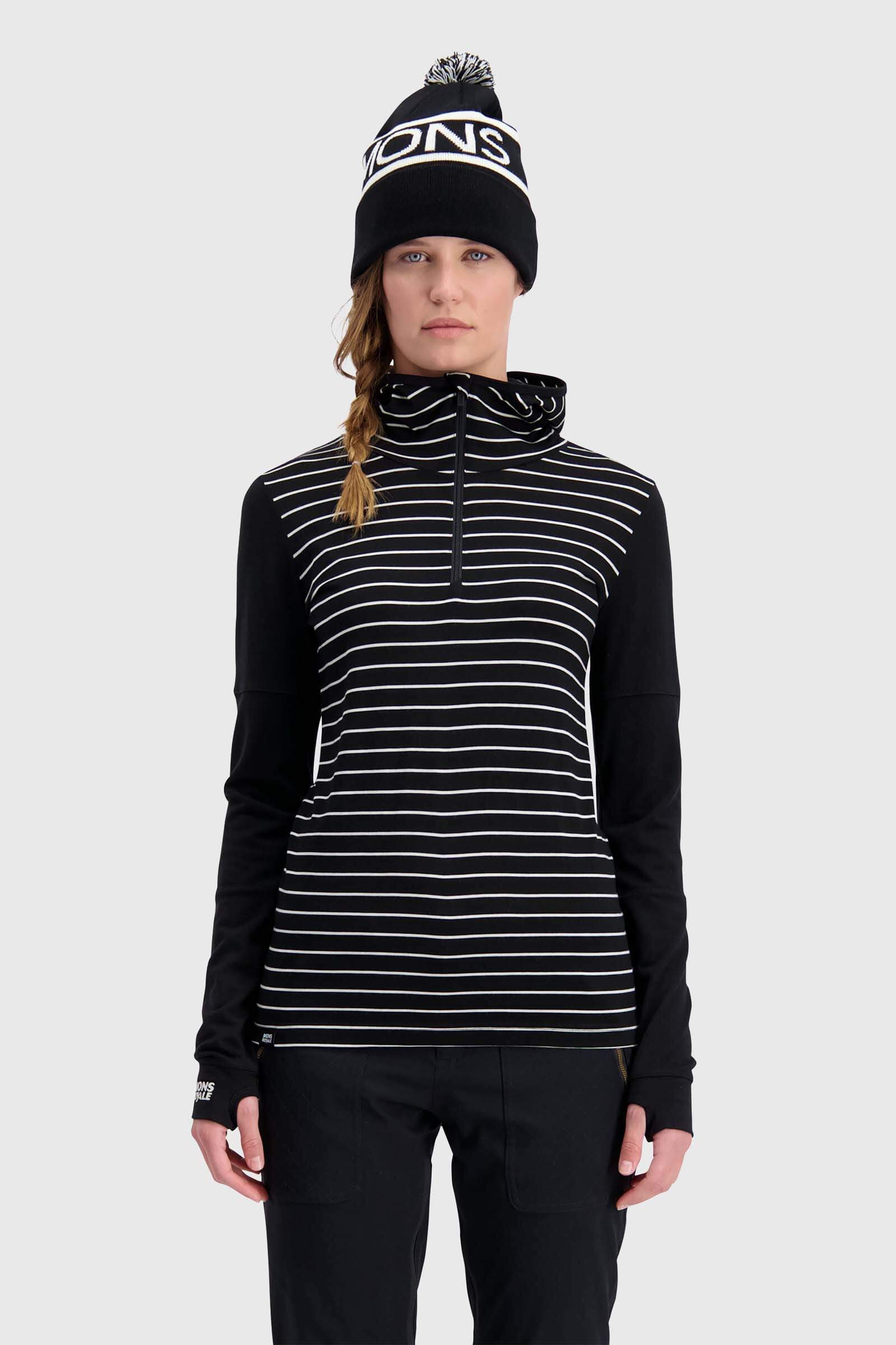 Cornice Hood - Black / Thin Stripe