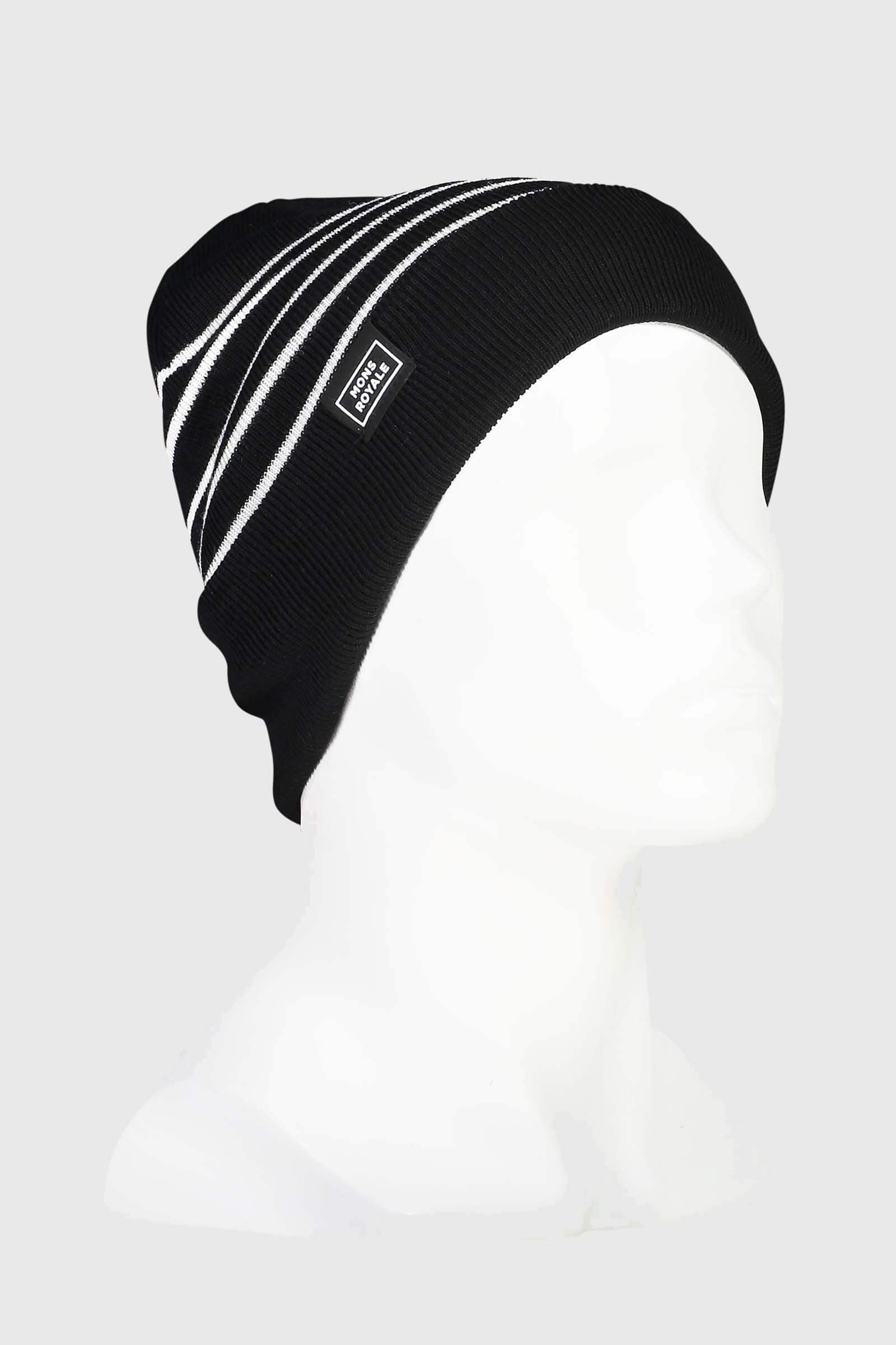 McCloud Striped Beanie - Black / White