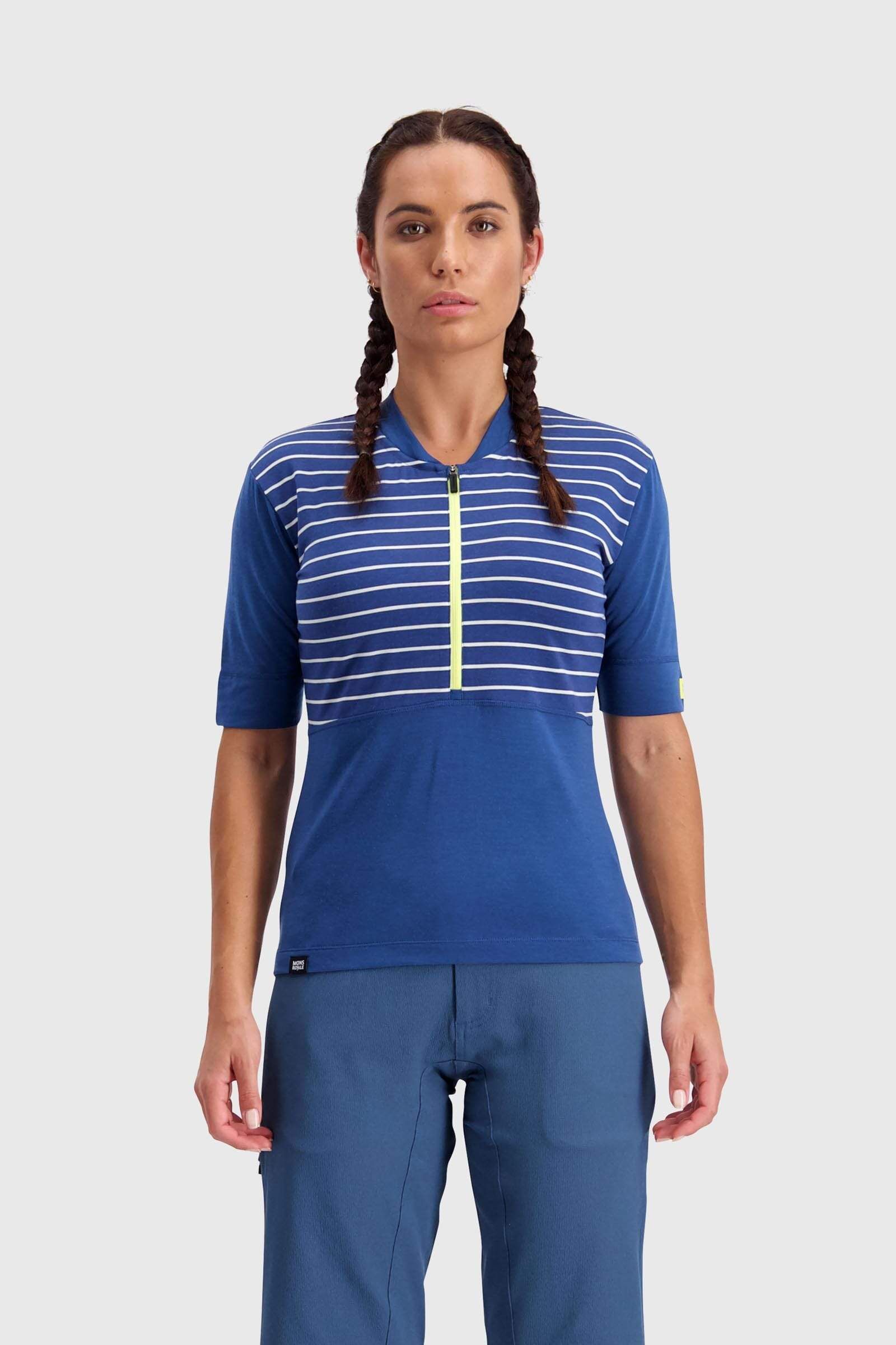 Cadence Half Zip - Ink Stripe