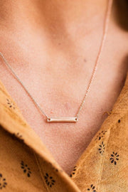 18k Rose Gold Mini Bar Necklace