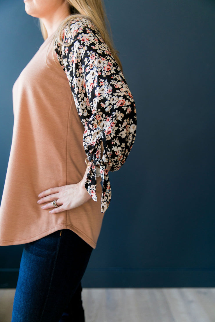 Selena Floral Sleeved Blouse