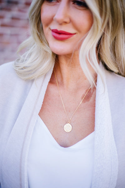Bee Coin Necklace - Women's Jewelry | Frances Blue Boutique
