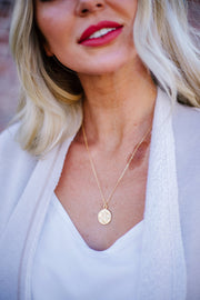 18K Gold Coin Necklace - Women's Jewelry | Frances Blue Boutique