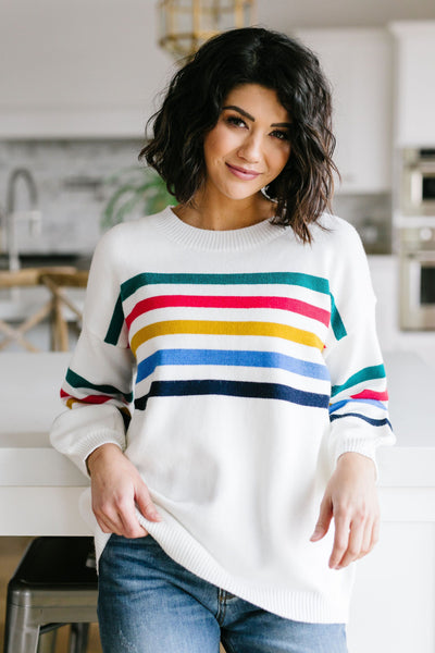 Bright Lines Sweater