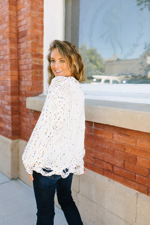 Frayed Confetti Sweater | Cyber Monday Doorbuster
