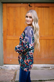 Floral + Geometric Boho Blouse | Frances Blue Boutique