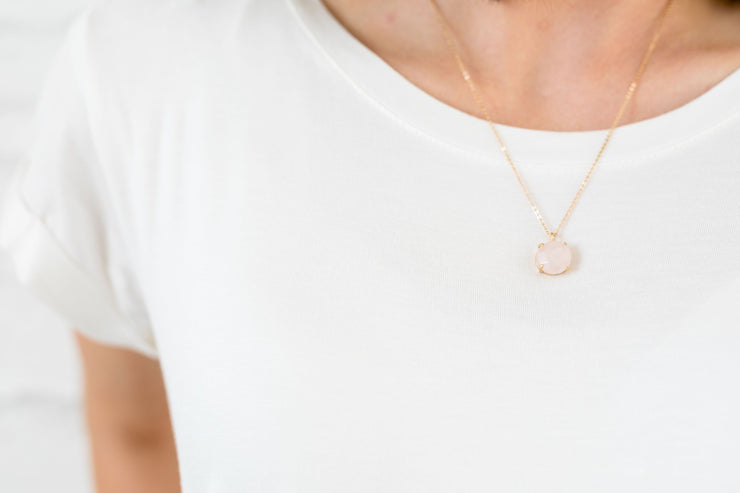 Rose Quartz Natural Stone Necklace