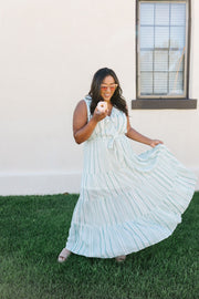 Tiers Of Joy Striped Maxi Dress