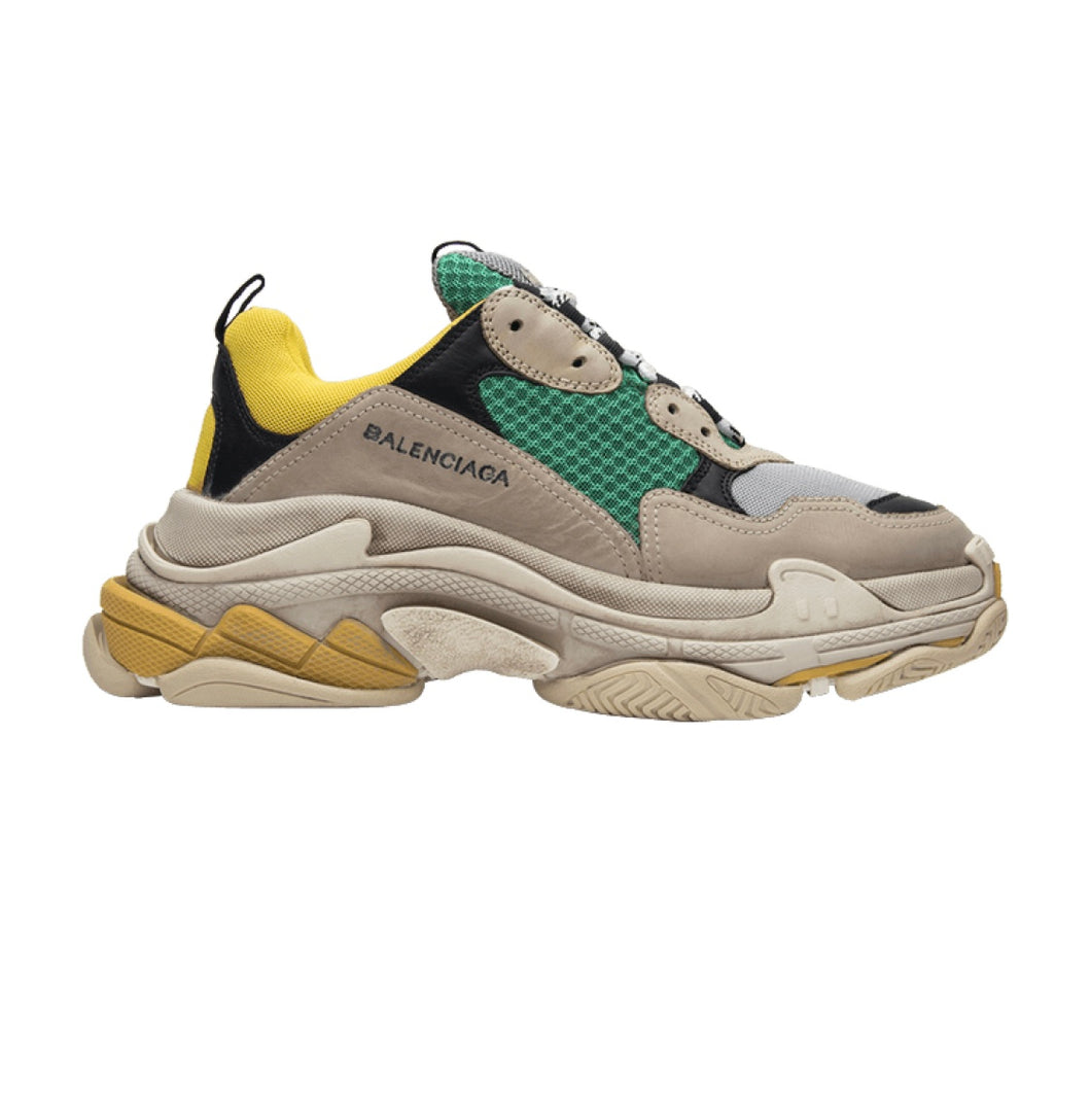 BALENCIAGA TRIPLE S TRAINER `YELLOW/GREEN´. `BLACK/RED´