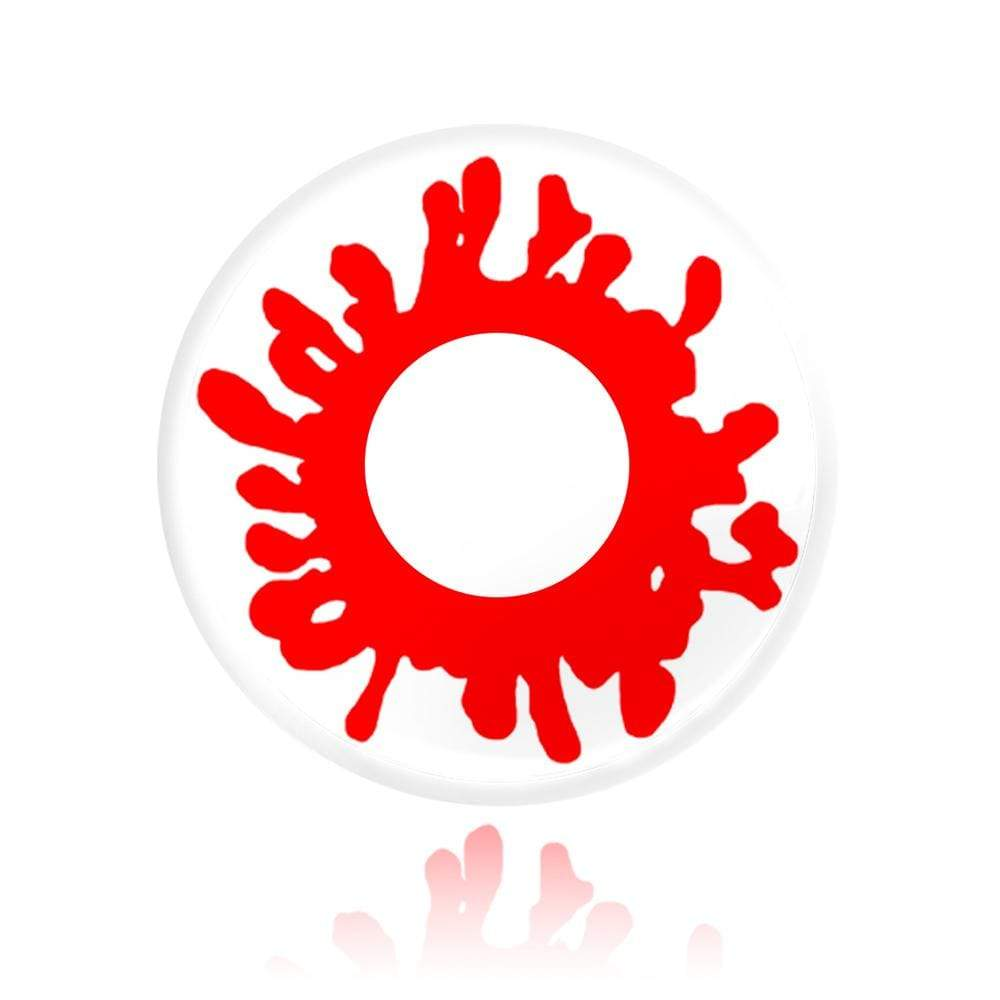 Pattern and colors design of the Blood Splat Cosplay Contacts