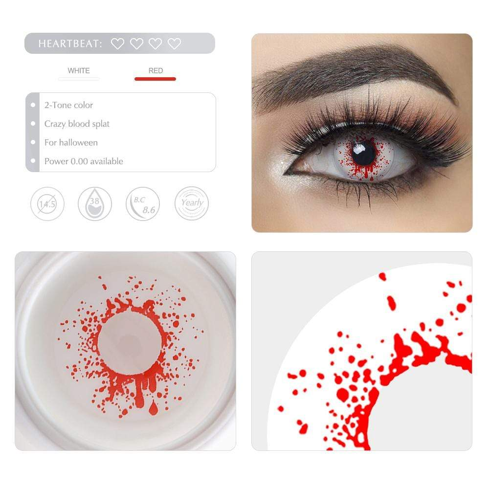 Unique selling points of the Crazy Blood Splat Cosplay Contact lenses