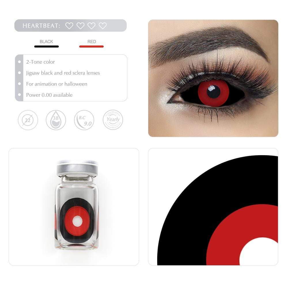 Unique selling points of the Jigsaw Black and Red Scleral lenses