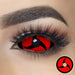 Mangekyo Sharingan Naruto Sclera Contacts on dark eyes