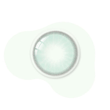 Mint green color lenses real shot
