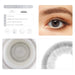 Platinum gray contact lens details display rederings