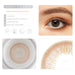 Honey brown contact lens details display rederings